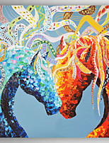 Oil Painting Decoration Horses Hand Painted Canvas Painting with Stretched Framed Ready to Hang