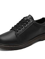Femme-Décontracté-Noir / Marron / Jaune-Talon Plat-Confort-Sneakers-Polyuréthane