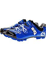 Cycling Shoes Unisex Outdoor / Mountain Bike Sneakers Damping / Cushioning Dark Blue-sidebike