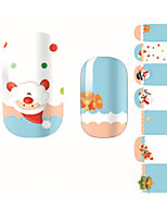 Fashion Christmas Gift Santa Claus Nail Decal Art Sticker Gel Polish Manicure Beautiful Girl
