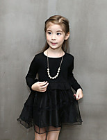 Girl's Casual/Daily Solid DressCotton / Polyester Spring / Fall Black