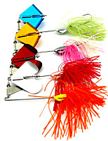 4 pcs Buzzbait & Spinnerbait Köder / Metallköder N/A 22g/pc g/3/4 Unze,Other mm/2-5/8