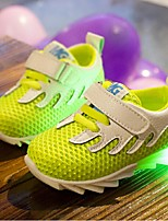 Unisex Sneakers Fall Comfort Tulle Casual Flat Heel LED Blue / Green / Fuchsia Walking