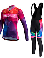 MILOTO Women's  Winter Outdoor Fleece Thermal Jersey Cycling  Shirt  Long Sleeves Waist Cloth