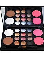 16 Palette de Fard à Paupières Sec Fard à paupières palette Poudre Normal Maquillage Quotidien