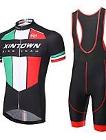 XINTOWN® Fahrradtrikot mit Trägerhosen Herrn Kurze Ärmel FahhradAtmungsaktiv / Rasche Trocknung / UV-resistant / 3D Pad /
