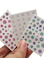 Fashion DIY Designer Water Transfer Nails Art Sticker Christmas Snowflake Fashion Nail Stickers