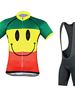 Sports Cycling Jersey with Bib Shorts Unisex Short Sleeve BikeBreathable / Quick Dry / Ultraviolet Resistant / Wearable / 4D Pad / Back