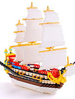 3000 PCS Plastic Sailing Boat Diamond Building Blocks 28*26 CM Blocks Sailship Toys Educational Toys For Kids