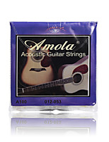 Amola A100 012-053 Pure Copper Acoustic Guitar Strings For Wooden guitar