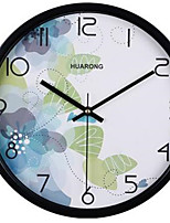 Модерн / Повседневный Семья Настенные часы,Круглый Металл 20*20*3 Применение / В помещении / На открытом воздухе Часы