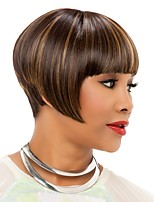 Cheap African American Wigs Synthetic Lace Full Wig Full Bangs Heat Resistant Short Wigs For Black