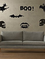 AYA DIY Wall Stickers Wall Decals Halloween Decoration BOO Type PVC Panel Wall Stickers 42*96cm
