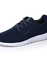 Men's Sneakers Spring / Fall Comfort / Round Toe Tulle Athletic Flat Heel Others / Lace-up Black / Blue / Gray Sneaker