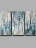 Handgemalte Abstrakt / Landschaft Ölgemälde,Modern Drei Paneele Leinwand Hang-Ölgemälde For Haus Dekoration
