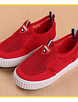 Girl's Sneakers Summer Tulle Casual Flat Heel Others Blue Red Other