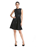TS Couture® Cocktail Party Dress A-line Jewel Short / Mini Chiffon with Appliques