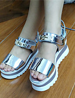 Women's Sandals Summer Patent Leather Casual Platform Others Black Pink Silver Walking