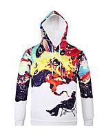 Inspired by 3D Colourful Long Sleeve Hoodie Cosplay Hoodies Print Long Sleeve Coat Clothing Round Halloween