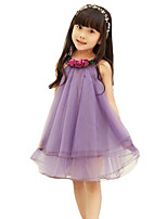 Girl's Going out Solid DressOthers Summer Pink / Purple
