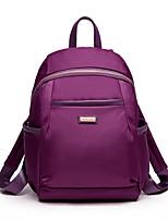 Women Nylon Casual Backpack Purple / Blue / Red / Black