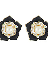 Earring Flower Stud Earrings Jewelry Women Imitation Pearl Party / Daily / Casual Alloy 1 pair Gold KAYSHINE