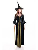 Costumes Uniforms Halloween Black Patchwork Terylene Dress / More Accessories