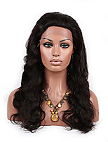 100% Virgin Brazilian Human Hair  Lace Front Wig Natural Color Body  Wave Lace Wigs