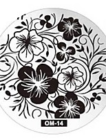 Nail Art Stamping Placa Stamper raspador 6*6*0.5
