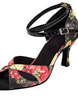 Customizable Women's Dance Shoes Satin Satin Latin / Salsa Sandals / Heels Customized Heel Professional / Indoor Other