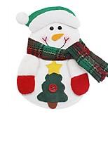 Рождество Санта-Клаус снеговика лося нож вилка мешок посуда ужин столовые приборы декор