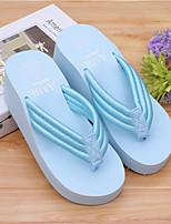 Damen-Slippers & Flip-Flops-Lässig-Gummi-Flacher AbsatzSchwarz Blau Rosa Weiß Pfirsich