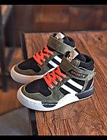 Boy's Sneakers Fall Closed Toe Leather Outdoor / Athletic Flat Heel Lace-up Black / Gray / Khaki Others