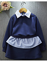 Girl's Casual/Daily Solid Clothing SetCotton / Rayon Spring / Fall Blue