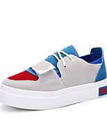Women's Sneakers Spring / Fall / Winter Comfort PU Outdoor / Casual Flat Heel Hook & Loop Black / Blue / Pink Walking