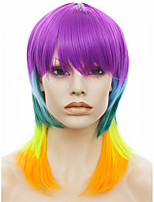 IMSTYLE 14Cosplay Hot Selling Colorful Cheap Staright Synthetic Machine Wig