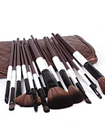 18 Makeup Brushes Set Goat Hair Professional / Full Coverage Wood Face Others