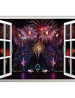 Wall Stickers Wall Decals Style Christmas Fireworks PVC Wall Stickers