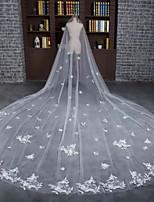 Свадебные вуали Один слой Фата для венчания Обрезанная кромка Тюль / Кружево Цвет слоновой кости