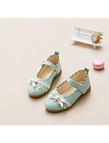 Flats Spring Fall Light Up Shoes PU Casual Flat Heel Bowknot Blue Pink Other