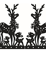 Merry Christmas Deers Wall Sticker Home Shop Store Chirstmas Party Window Stickers Decoration