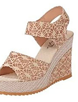 Women's Sandals Summer Sandals PU Casual Wedge Heel Others Black / Beige Others