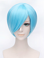 Fashion Short Straight  Wig Bule Color Synthetic Cosplay African American Wig
