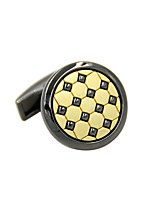 Cufflinks 2pcsColor Block Gray Fashionable Cufflink Men's Jewelry