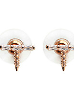Earring Geometric Stud Earrings Jewelry Women Fashion Wedding / Party Zircon / Gold Plated 1 pair Gold / Silver