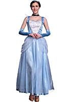 Costumes Princess series Costumes Halloween Sky Blue Patchwork Terylene Dress / More Accessories
