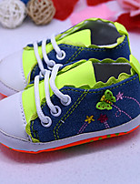 Girl's Sneakers Spring / Fall Comfort / Round Toe Canvas Casual Flat Heel Lace-up Green / Pink / Red Others
