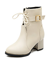 Women's Boots Fall / Winter Fashion Boots / Combat Boots / Round Toe Party & Evening / Dress / Casual Chunky Heel Zipper