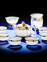 1PC Slap-Up Atmospheric Family Entertainment Ceramics Tea set Ten-Piece Cup Teapot