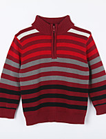 Boy's Casual/Daily Striped Sweater & CardiganCotton Fall Red